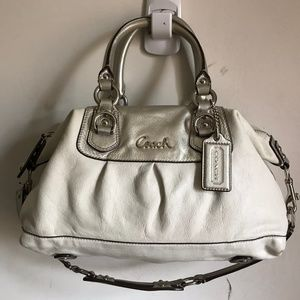 Coach shoulder bag - White Leather